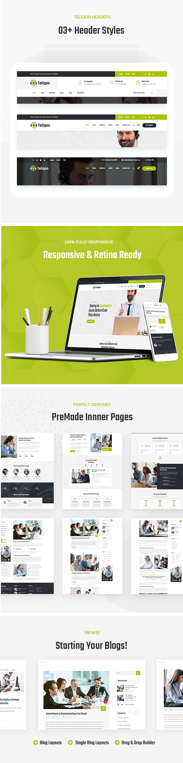 Call Center and Telemarketing HTML Template